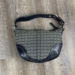 Coach Bags - Coach black grey monogram canvas hobo shoulder bag